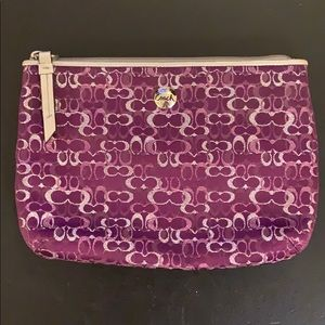 Purple Coach Make Up Bag